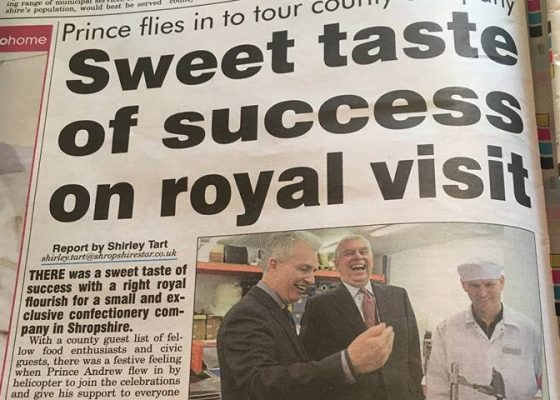 Royal approval for Shropshire Sweets